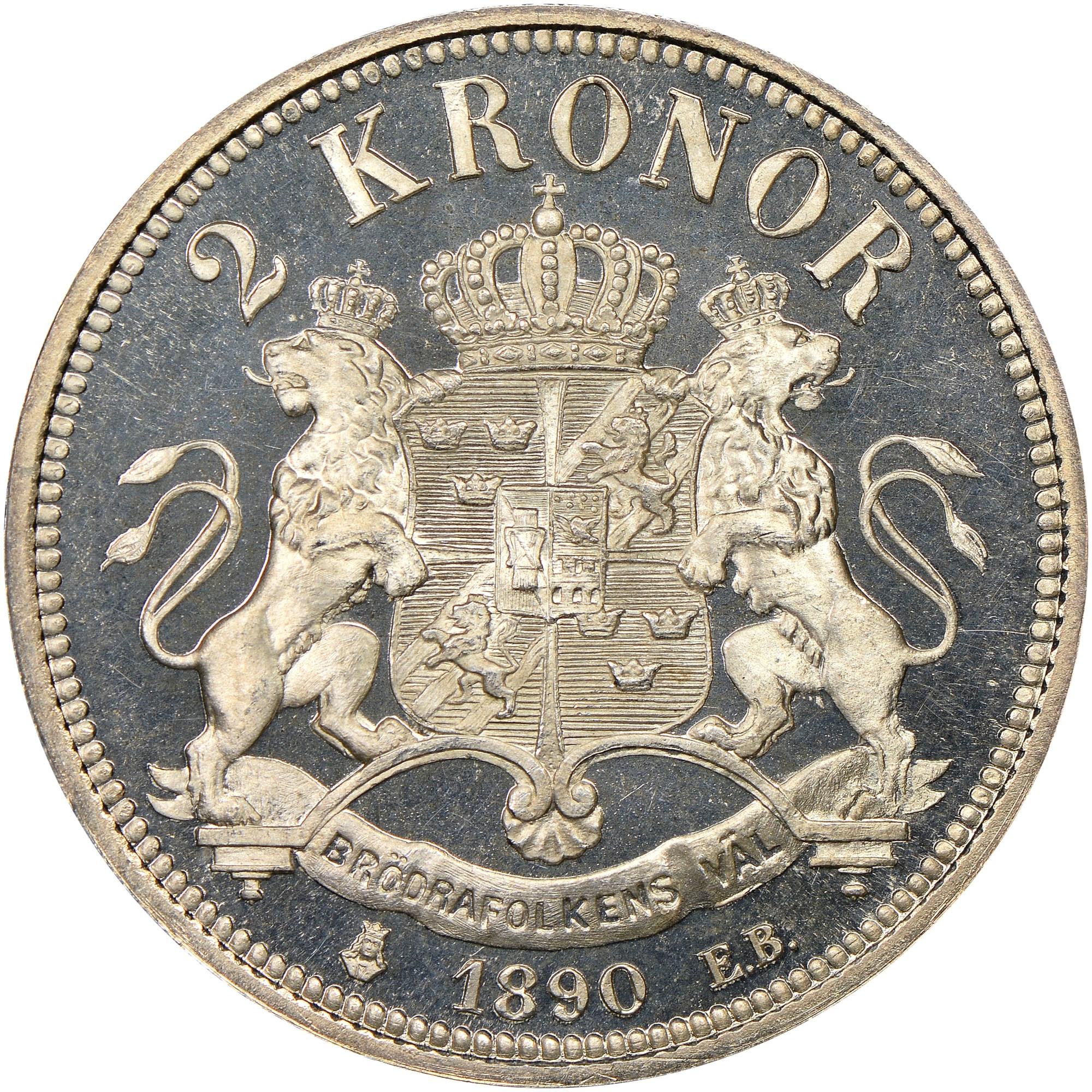 Sweden 2 Kronor reverse