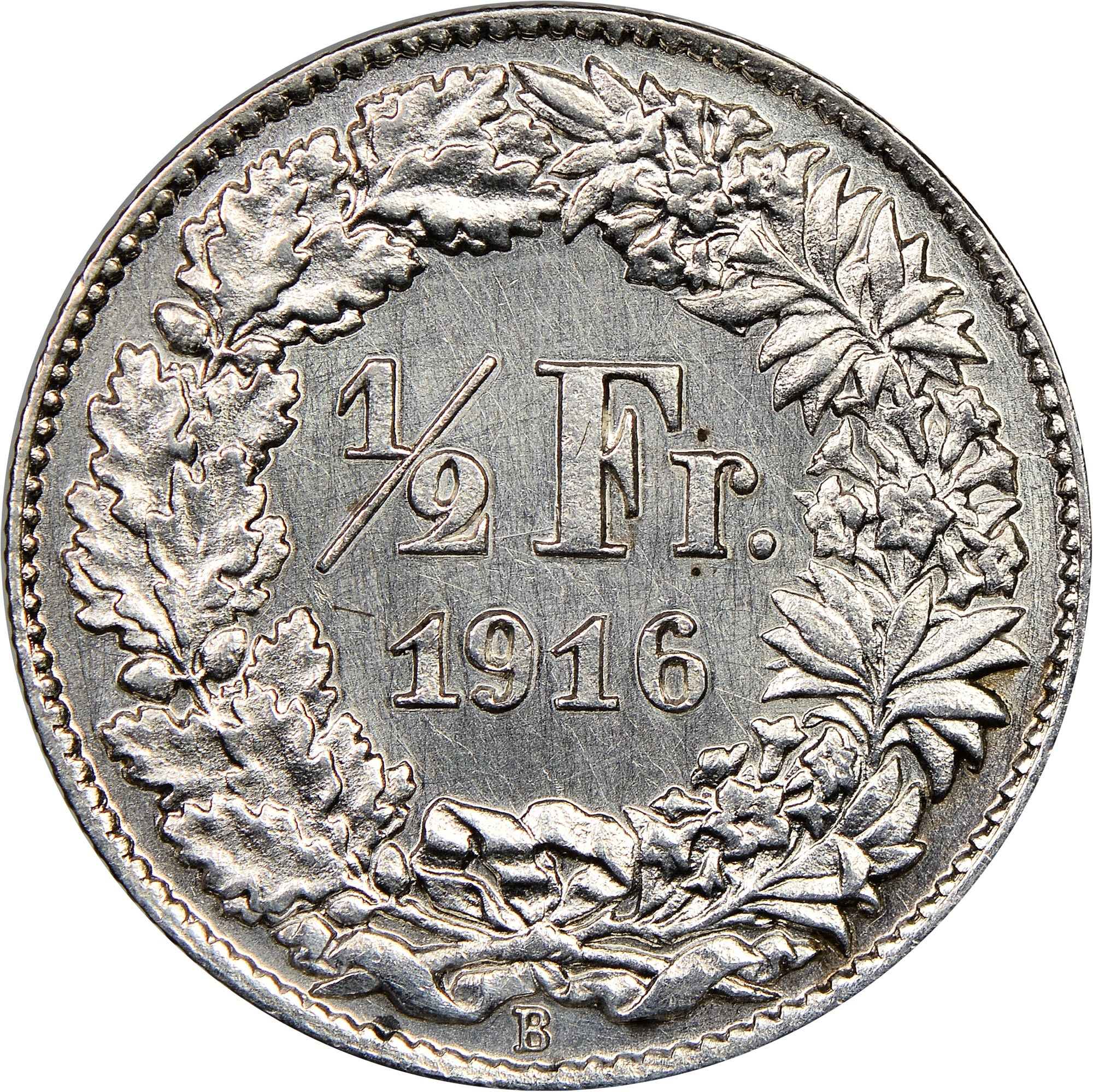 Switzerland 1/2 Franc reverse