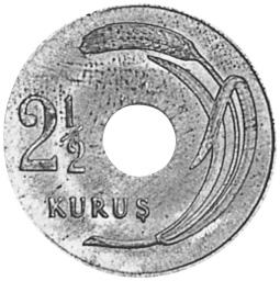 Turkey 2-1/2 Kurus reverse