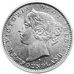 1865-1896 Newfoundland 10 Cents obverse