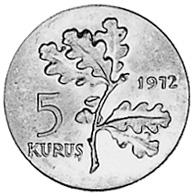 Turkey 5 Kurus reverse