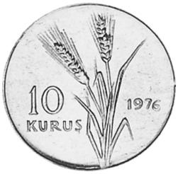 Turkey 10 Kurus reverse