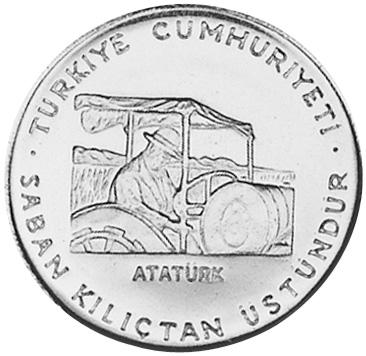 Turkey 5 Lira obverse