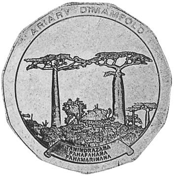 Madagascar 50 Ariary reverse