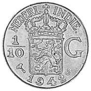 Netherlands east indies 1 10 gulden km 318 prices values for 1945 dutch east indies cuisine