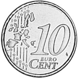 Netherlands 10 Euro Cent reverse