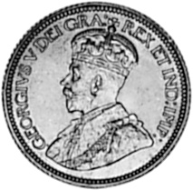 1912-1919 Newfoundland 10 Cents obverse