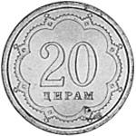 Tajikistan 20 Dirams reverse