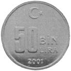 Turkey 50000 Lira reverse