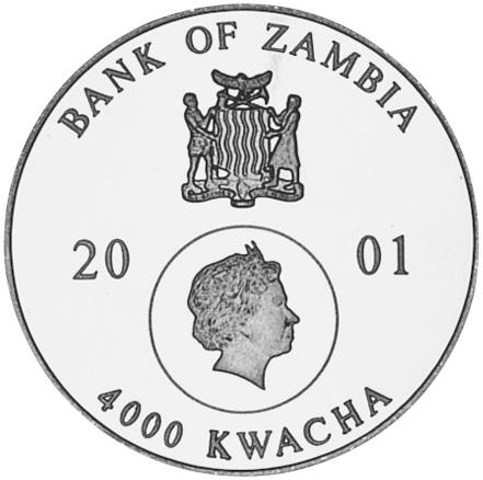 Zambia 4000 Kwacha obverse