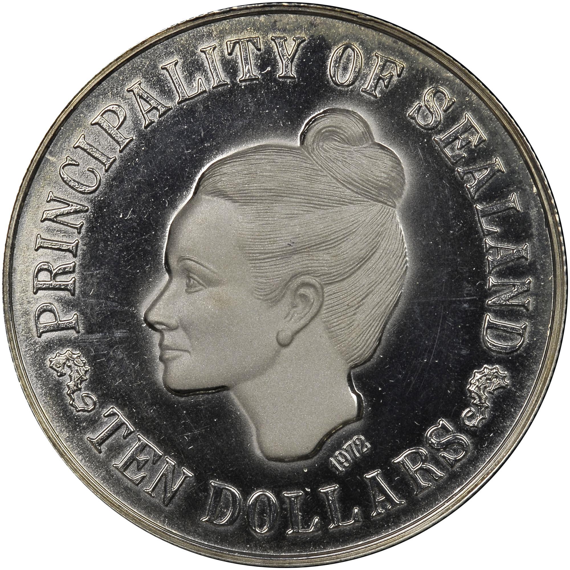 Sealand 10 Dollars obverse