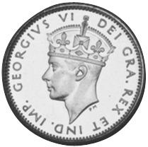 1945-1947 Newfoundland 10 Cents obverse