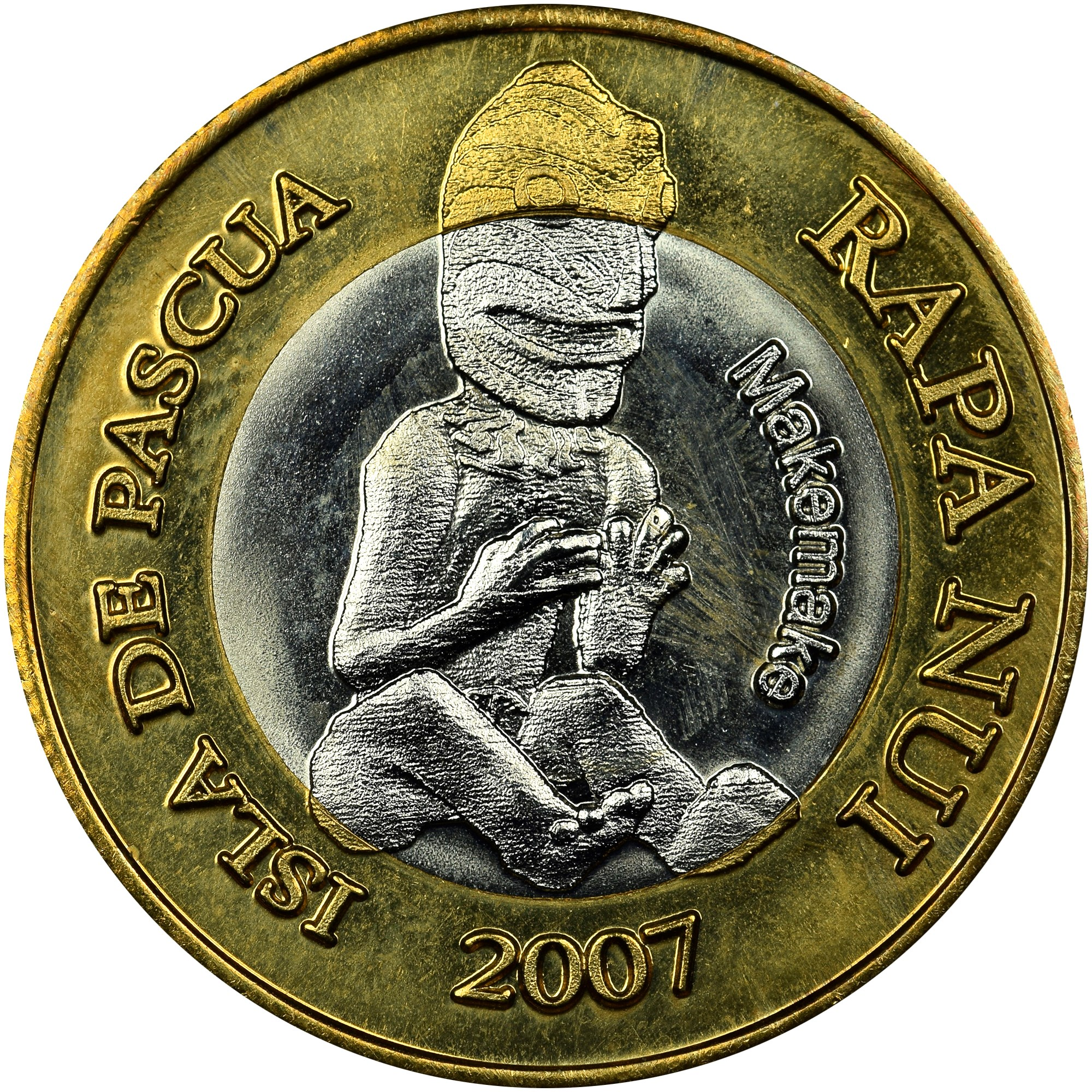 Rapa Nui - Isla De Pascua - Easter Island 200 Pesos obverse