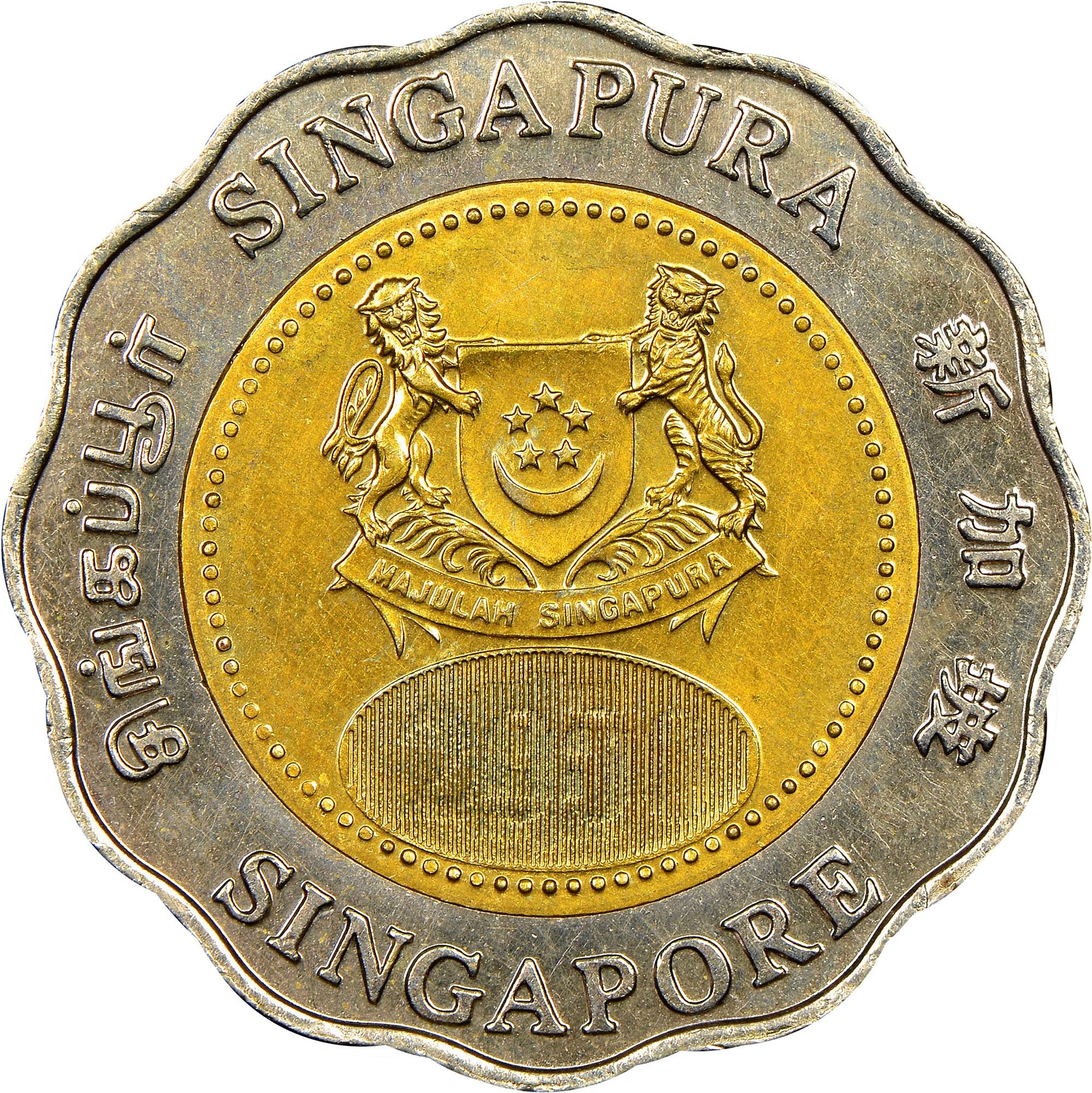 Singapore 5 Dollars obverse