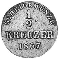German States WÜRTTEMBERG 1/2 Kreuzer reverse