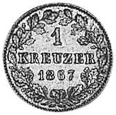 German States WÜRTTEMBERG Kreuzer reverse