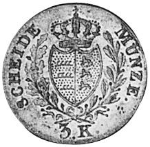German States WÜRTTEMBERG 3 Kreuzer reverse