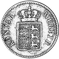 German States WÜRTTEMBERG 3 Kreuzer obverse
