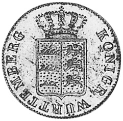 German States WÜRTTEMBERG 6 Kreuzer obverse