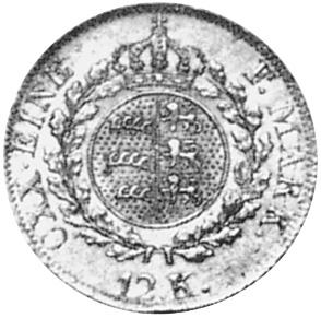 German States WÜRTTEMBERG 12 Kreuzer reverse