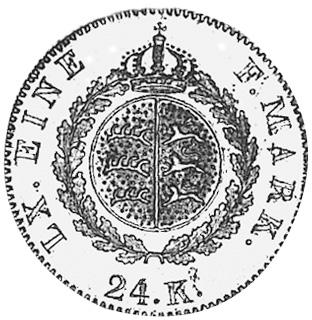German States WÜRTTEMBERG 24 Kreuzer reverse