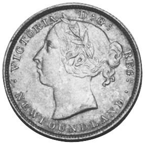 1865-1900 Newfoundland 20 Cents obverse