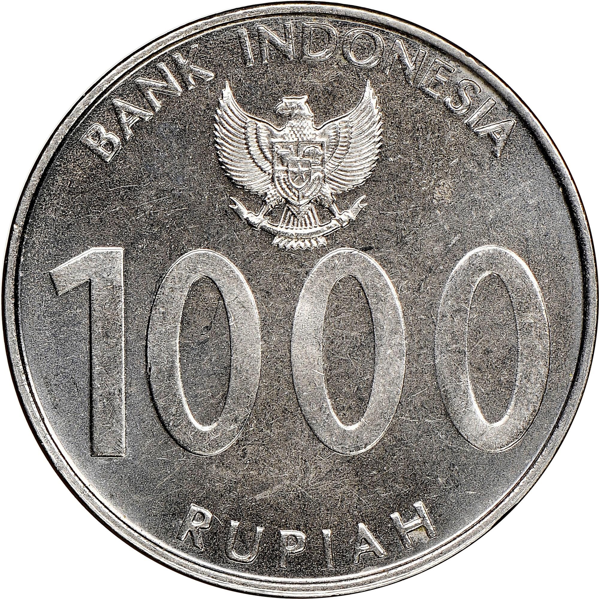 Indonesia 1000 Rupiah reverse