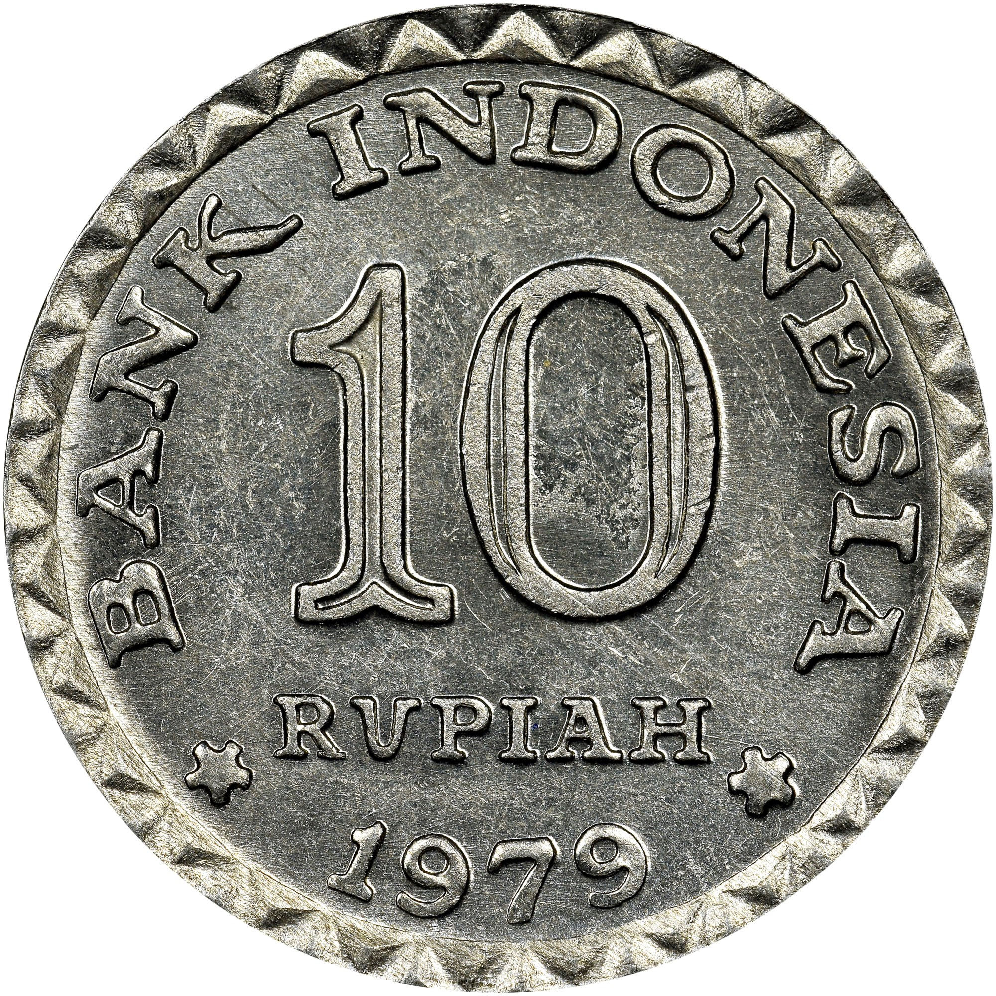 Indonesia 10 Rupiah obverse