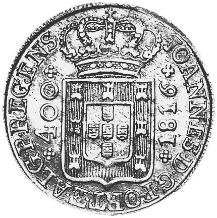 Portugal 400 Reis obverse