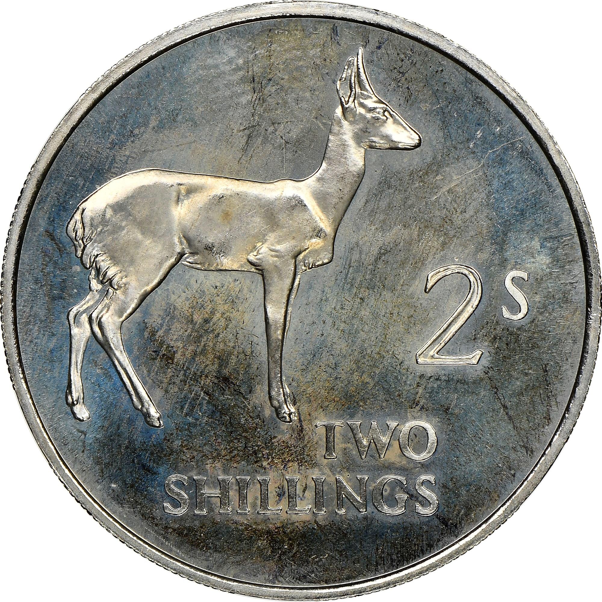 Zambia 2 Shillings reverse