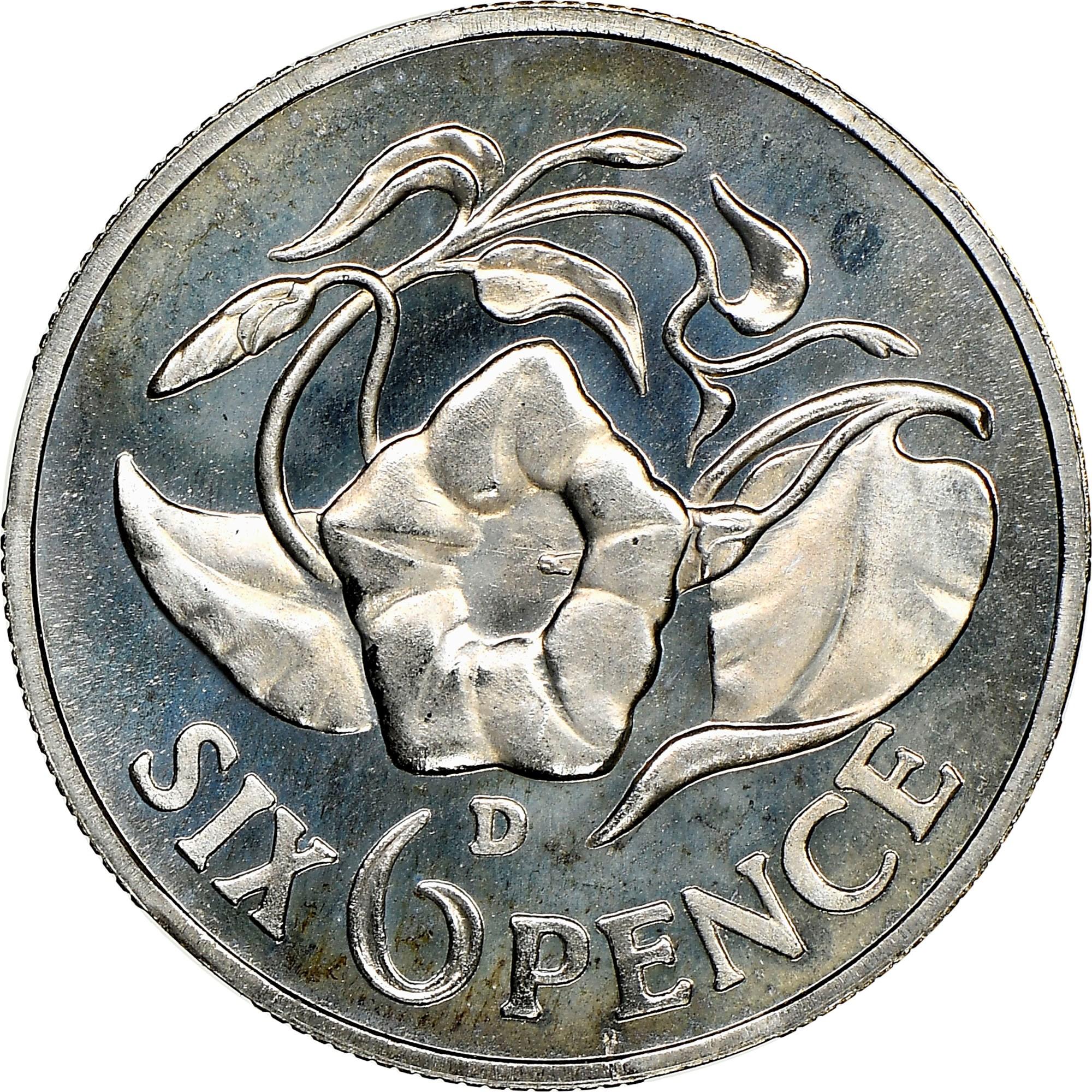 Zambia 6 Pence reverse