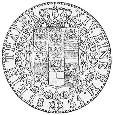 German States PRUSSIA Thaler reverse