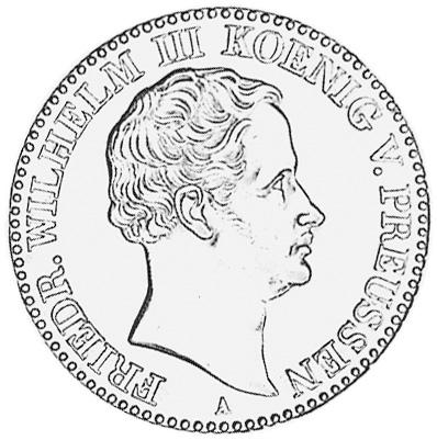 German States PRUSSIA Thaler obverse