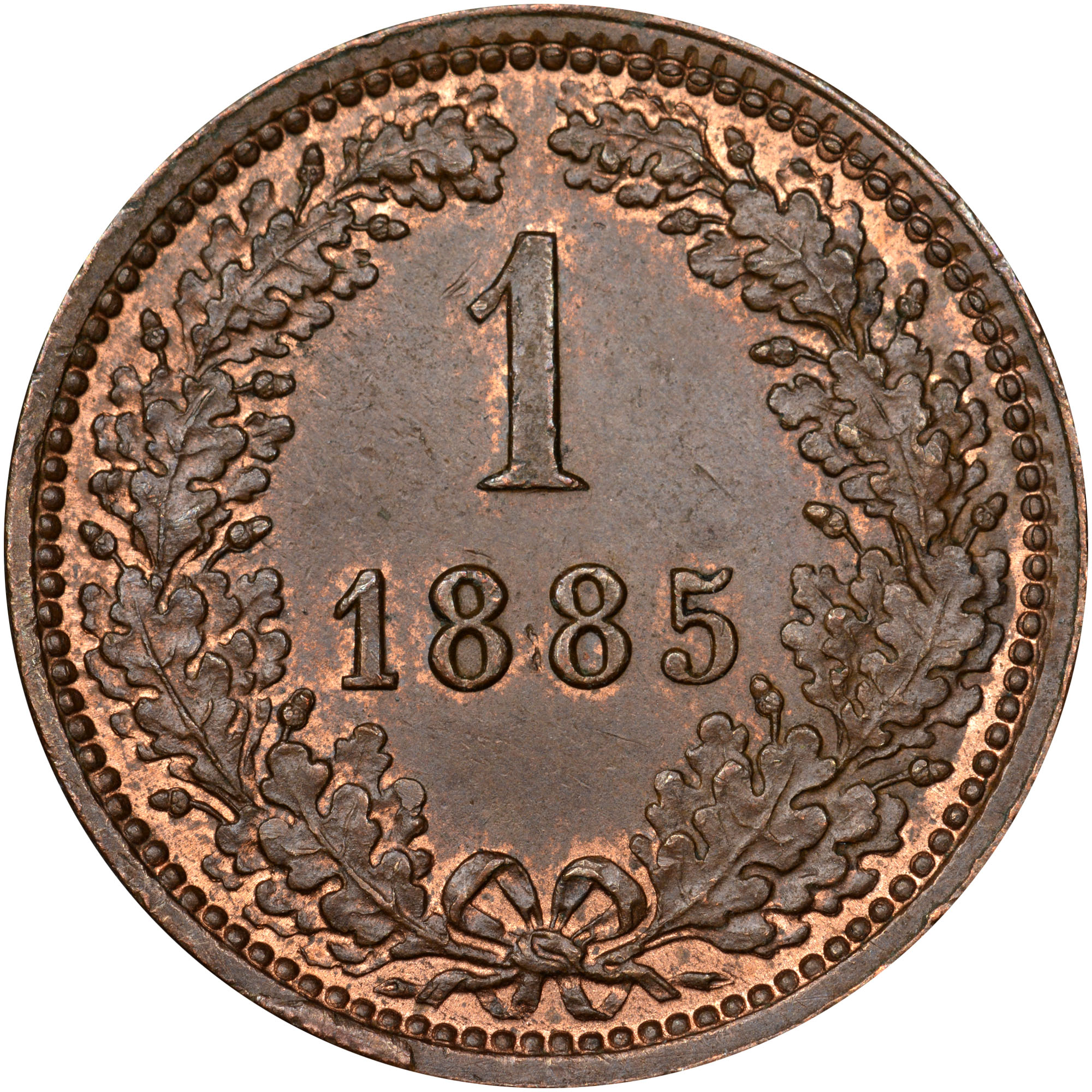 1885-1891 Austria Kreuzer reverse