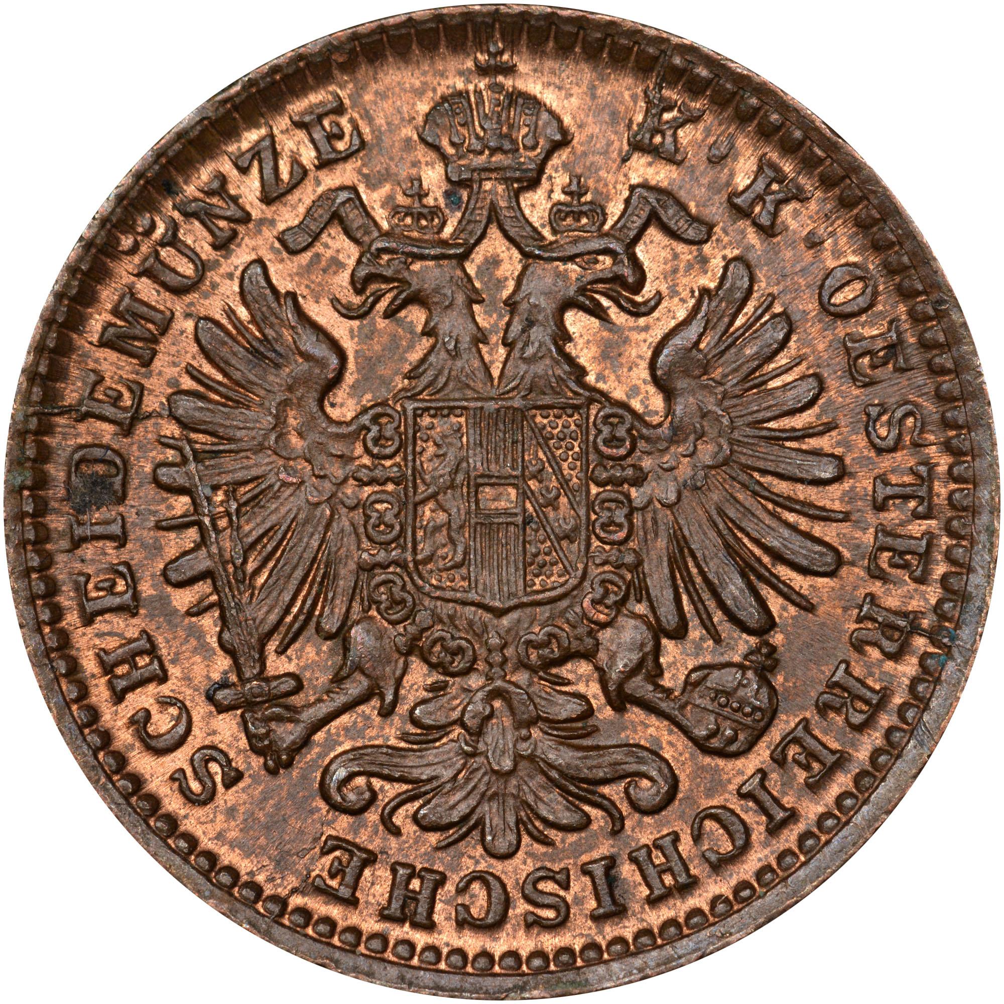 1885-1891 Austria Kreuzer obverse
