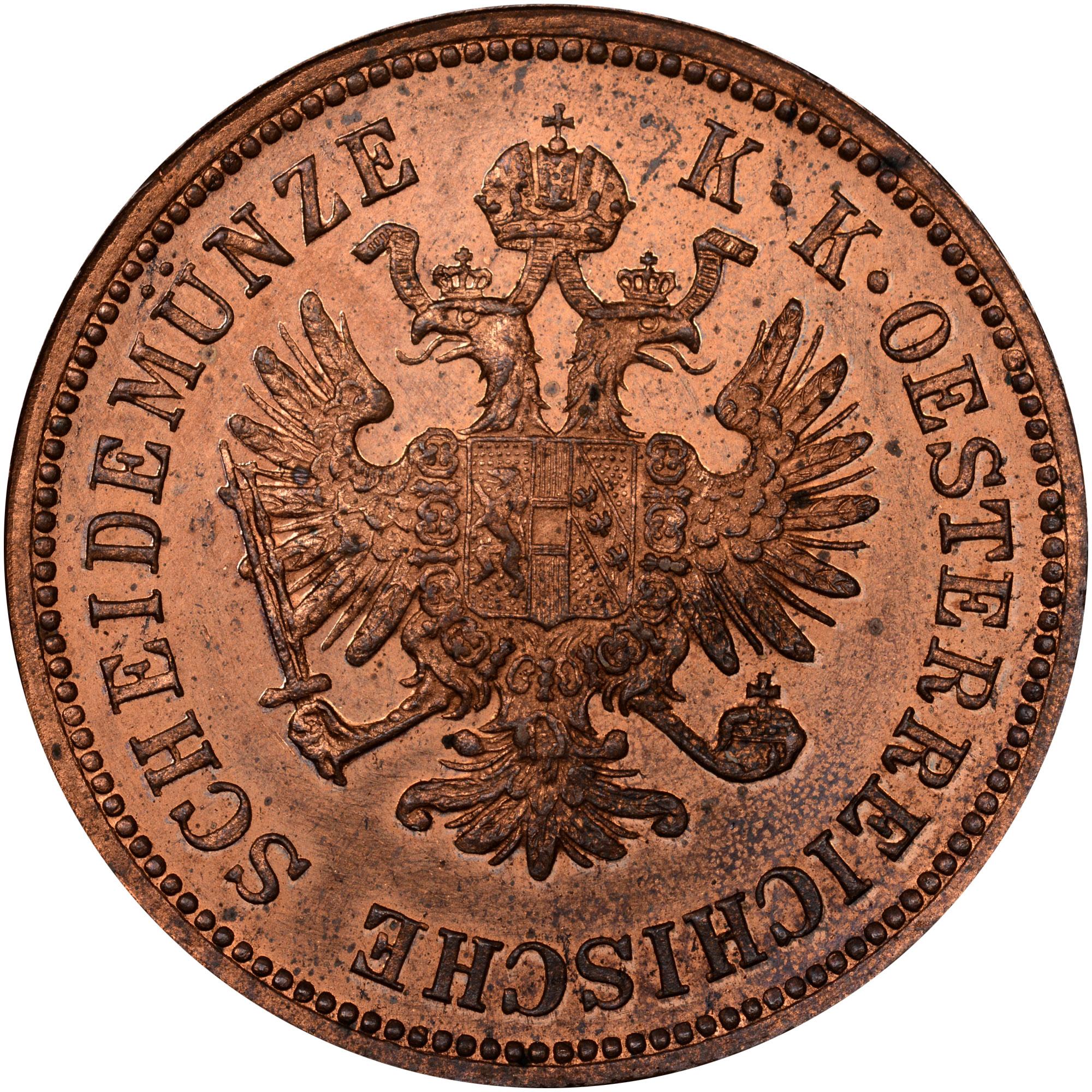 1860-1864 Austria 4 Kreuzer obverse