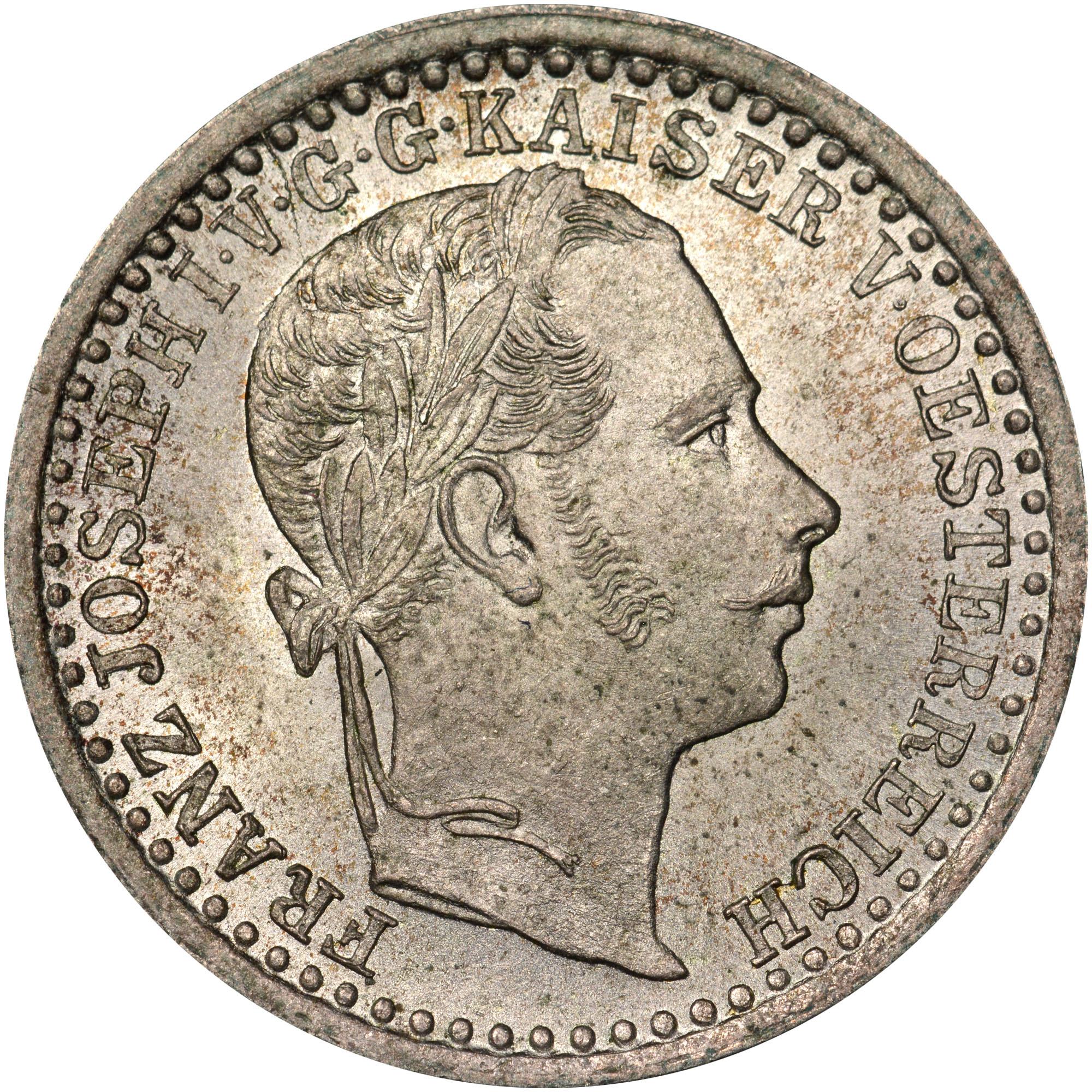 1858-1864 Austria 5 Kreuzer obverse