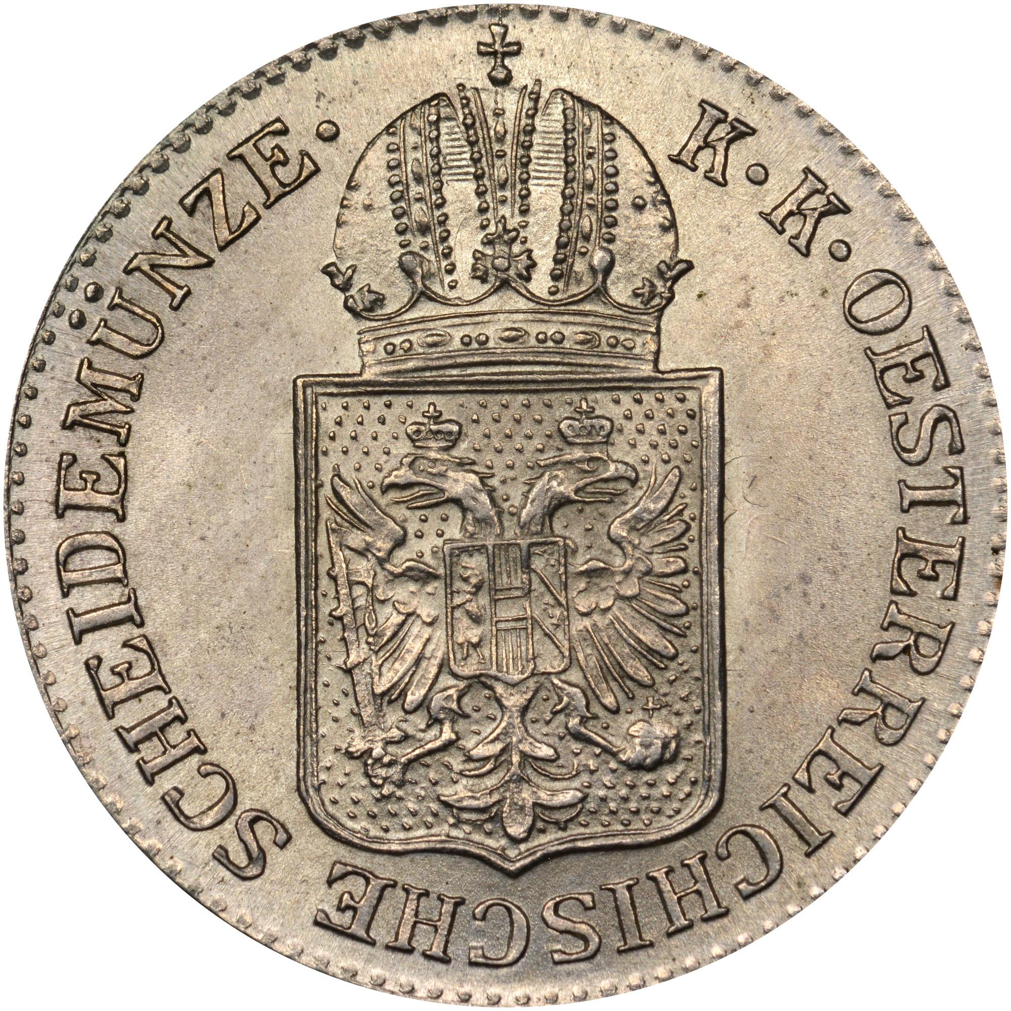 1849 Austria 6 Kreuzer obverse