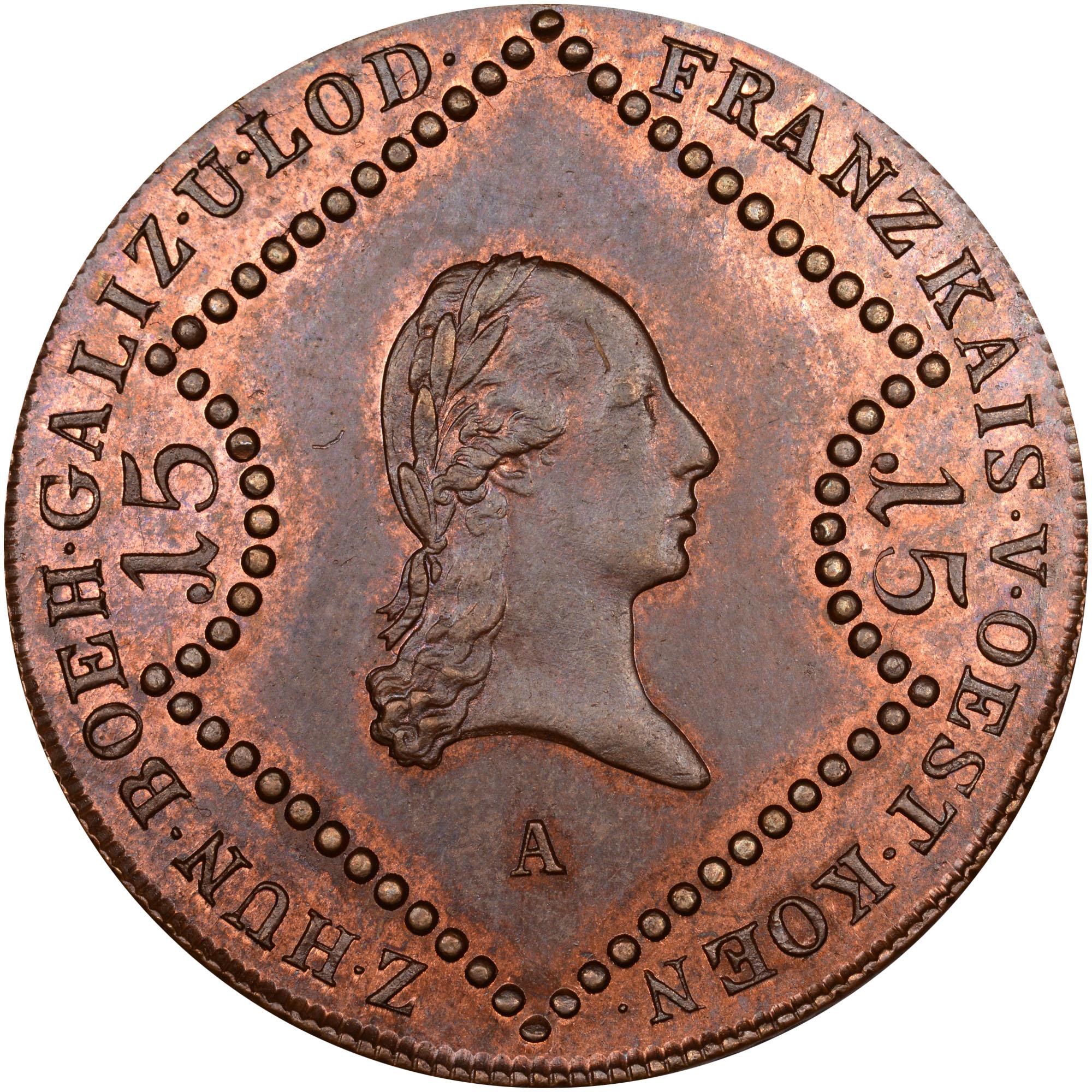 1087-1807 Austria 15 Kreuzer obverse