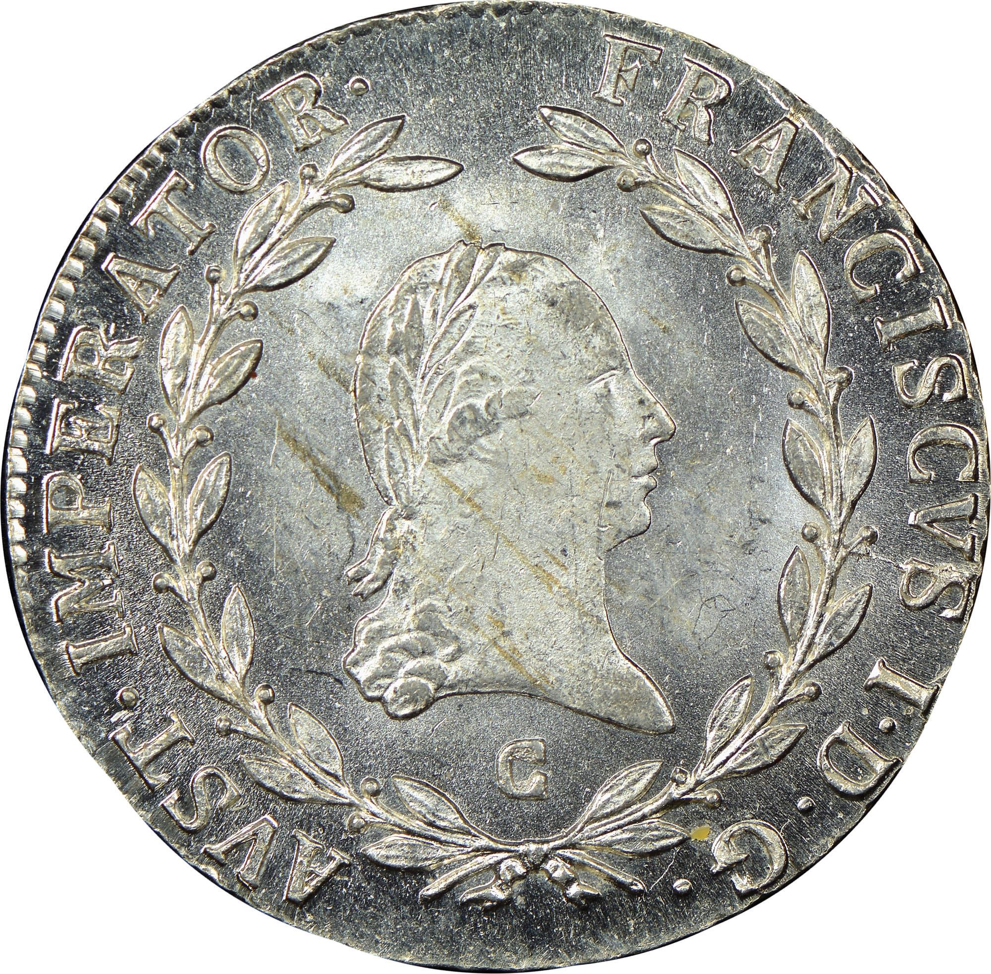 1806-1814 Austria 20 Kreuzer obverse