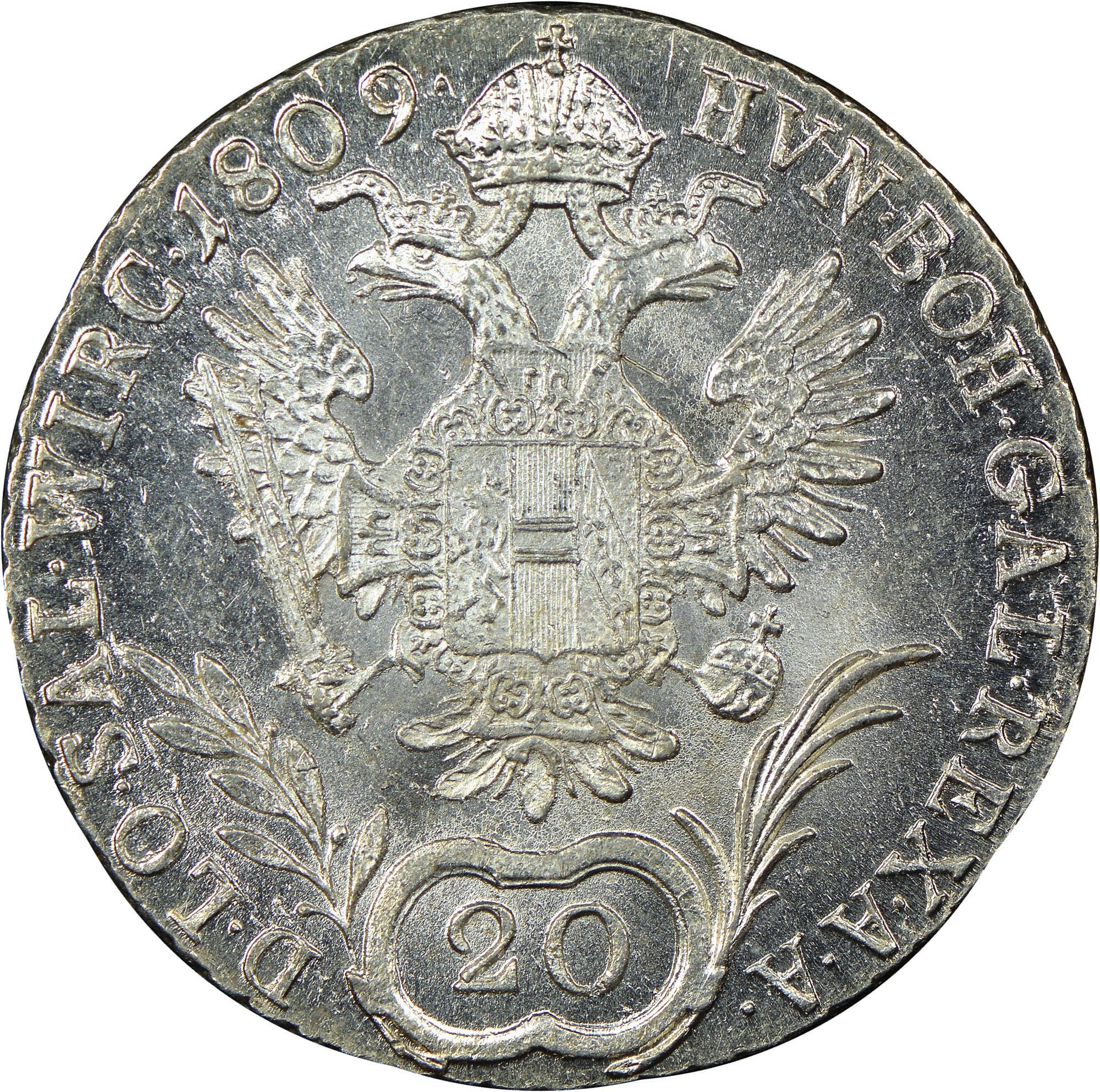 1806-1814 Austria 20 Kreuzer reverse