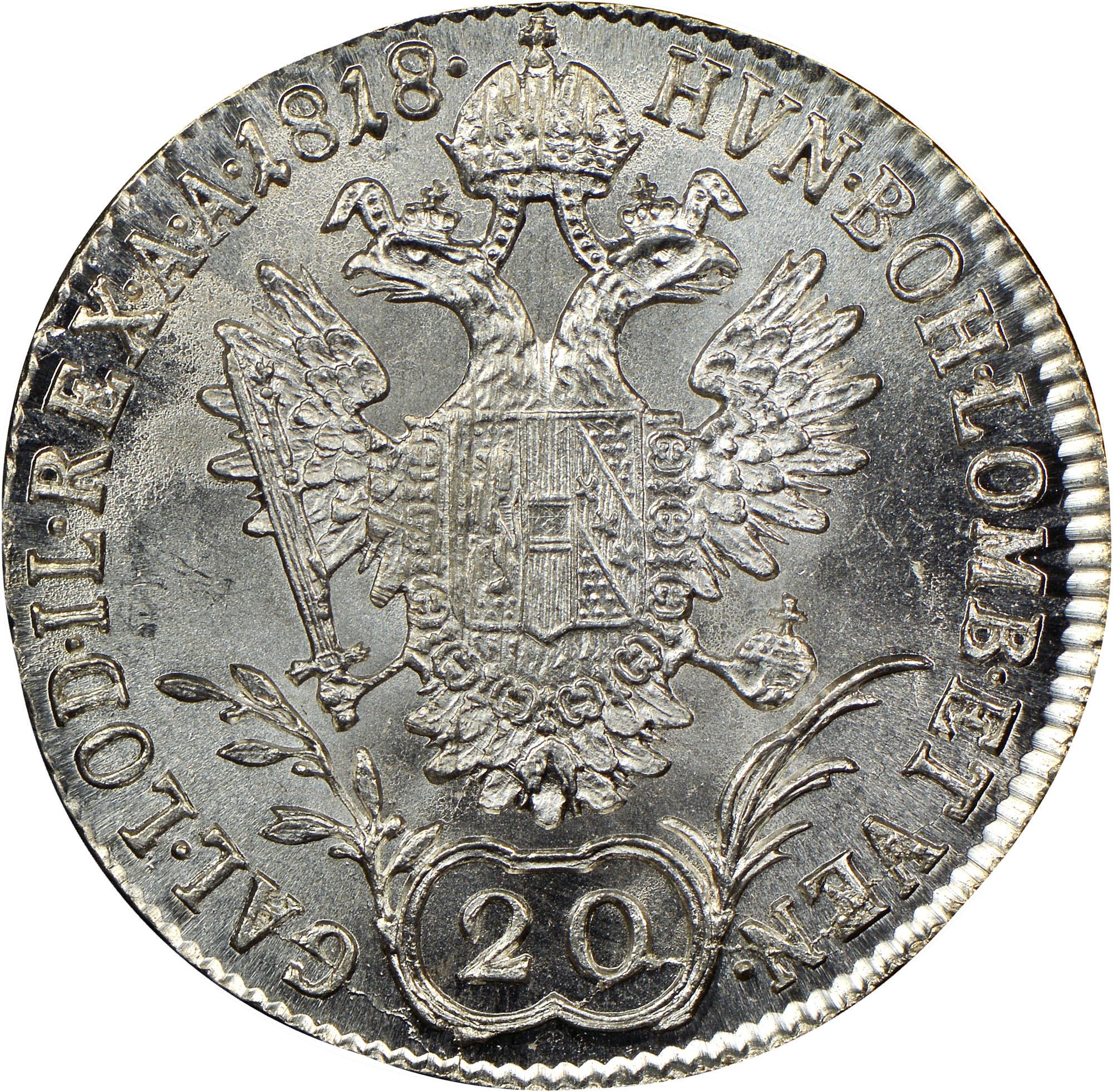 1817-1824 Austria 20 Kreuzer reverse