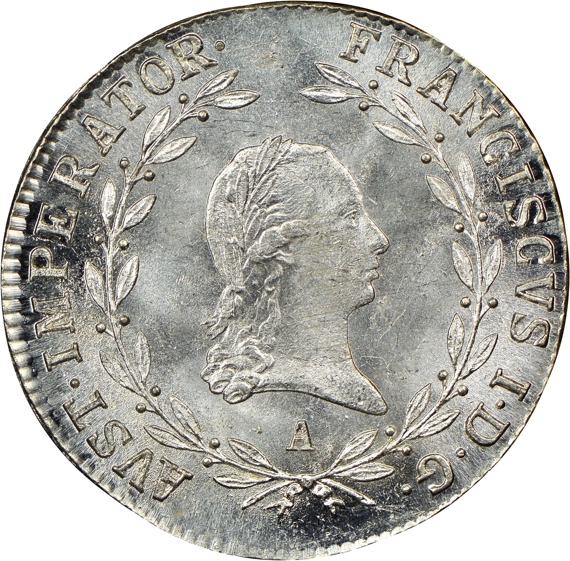 1817-1824 Austria 20 Kreuzer obverse