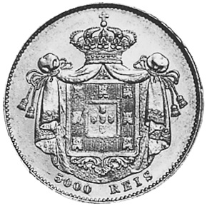 Portugal 5000 Reis reverse