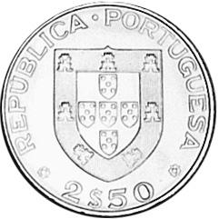 Portugal 2-1/2 Escudos obverse