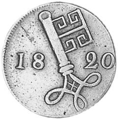 German States BREMEN 2-1/2 Schwaren obverse
