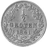 German States BREMEN 1/2 Groten reverse