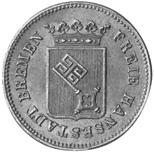 German States BREMEN 1/2 Groten obverse