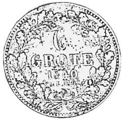 German States BREMEN 6 Grote / 1/12 Thaler reverse