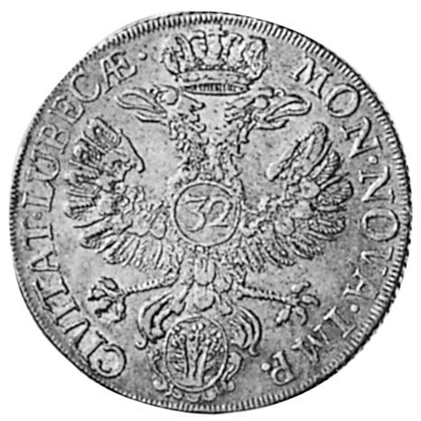 German States LÜBECK 32 Schilling reverse